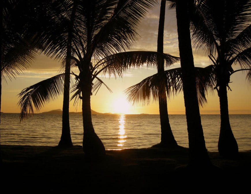 Sunset on Chuuk