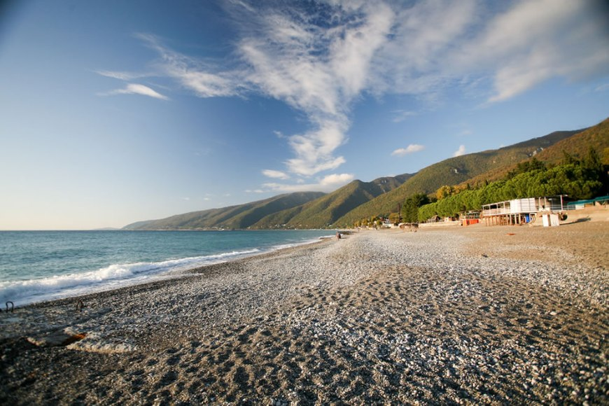 The Beach at Gagra now