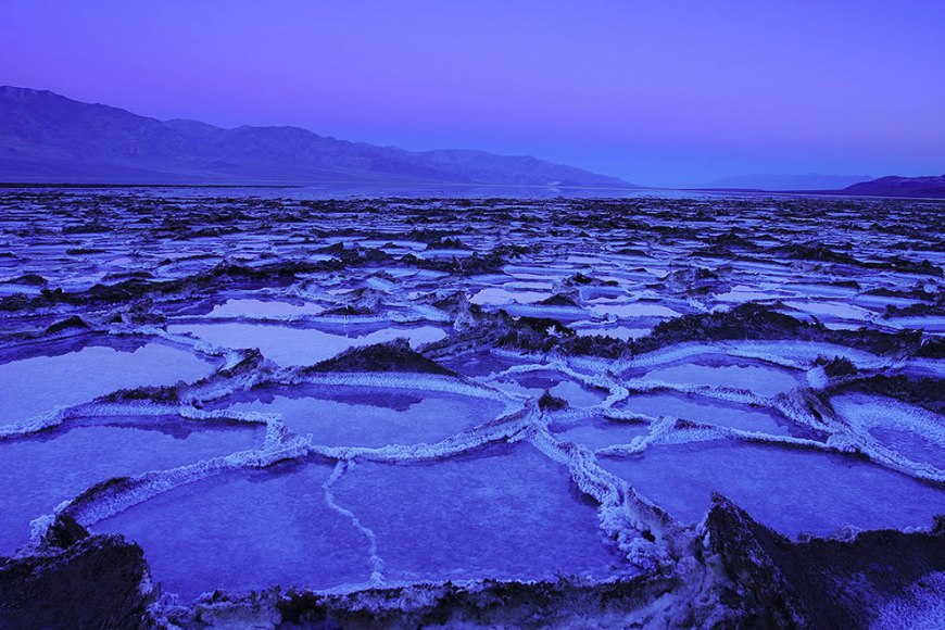 The salt lake at Badwater, Death Valley National Park, California, USA is the lowest point in North America