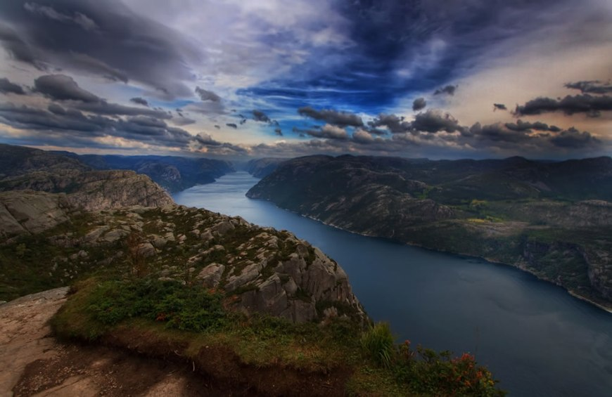 Top of the world - near pulpit rock - norway