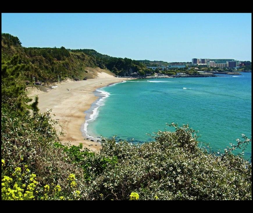 Wonderful Moments of Sunshine - Jungmun Beach - Jeju-do. The Island of Jeju, South Korea