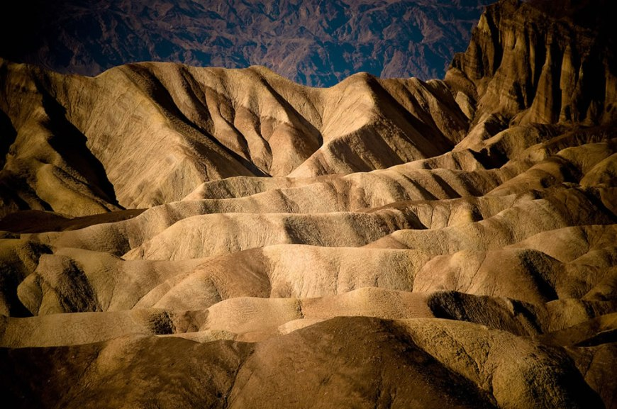 Waves - Zabriskie Point in Death Valley National Park