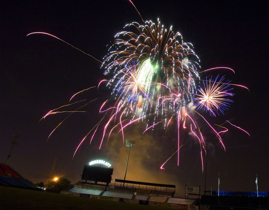 Fireworks light up Rosenblatt Stadium in the Heartland to broaden awareness of the USAF's role in the war on terrorism and strengthen support for Airmen serving worldwide in defense of freedom