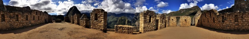 Panoramic photograph of the Machu Picchu residential section