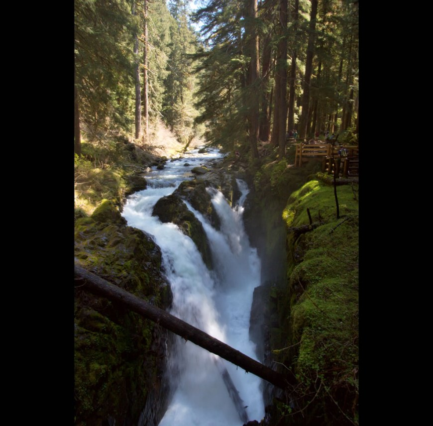 Sol Duc Falls, a waterfall in Olympic National Park