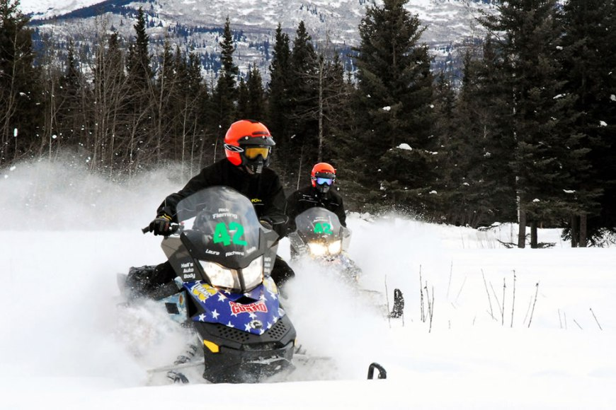 Alaska National Guard Iron Dog snowmobile race, Camp Denali, Alaska