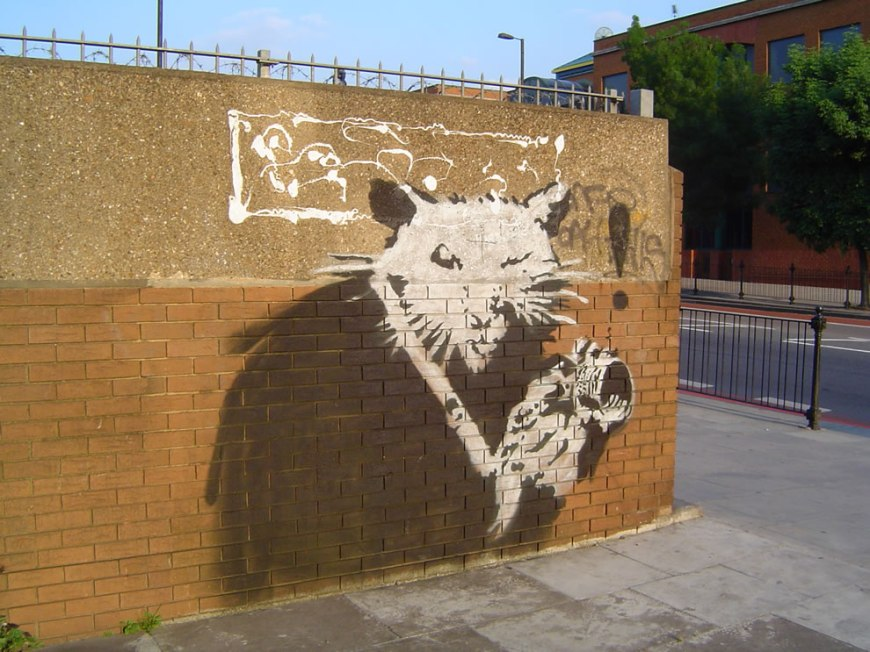 Banksy City Road Rat