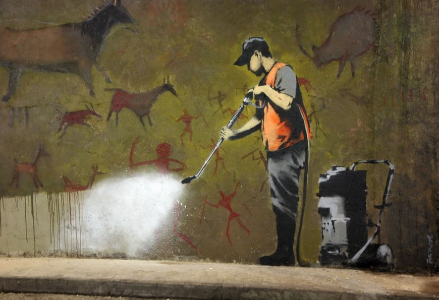 Banksy graffiti removal