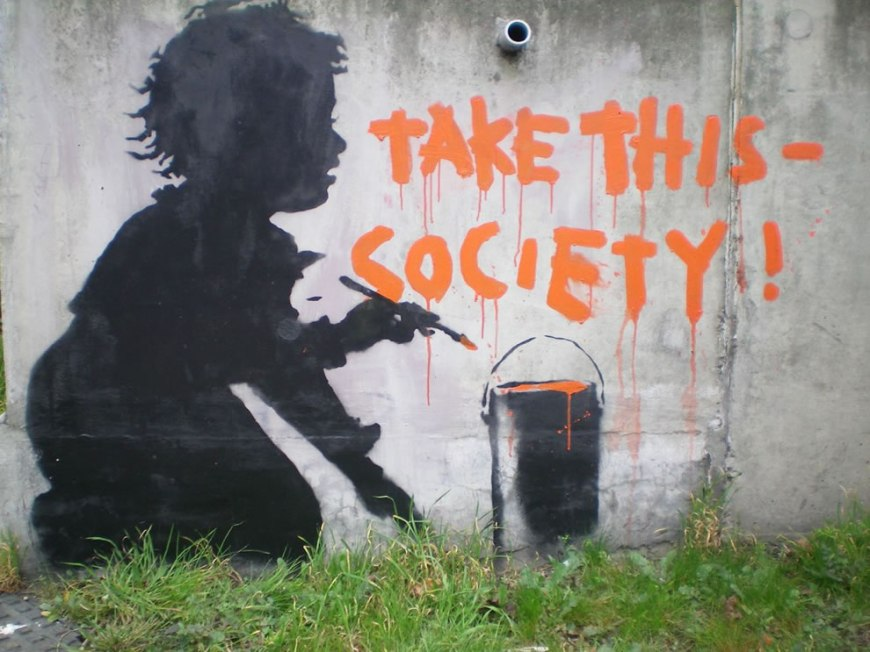 banksy take this society