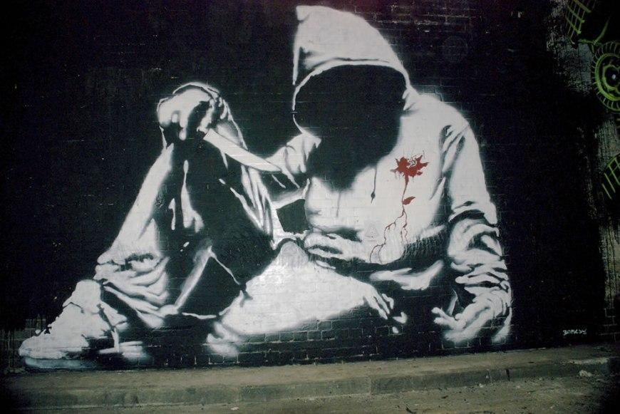 Banksy's self-harming hoodie