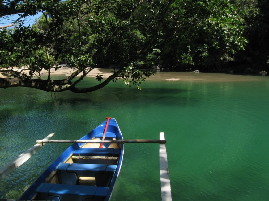 Boat to the underground river