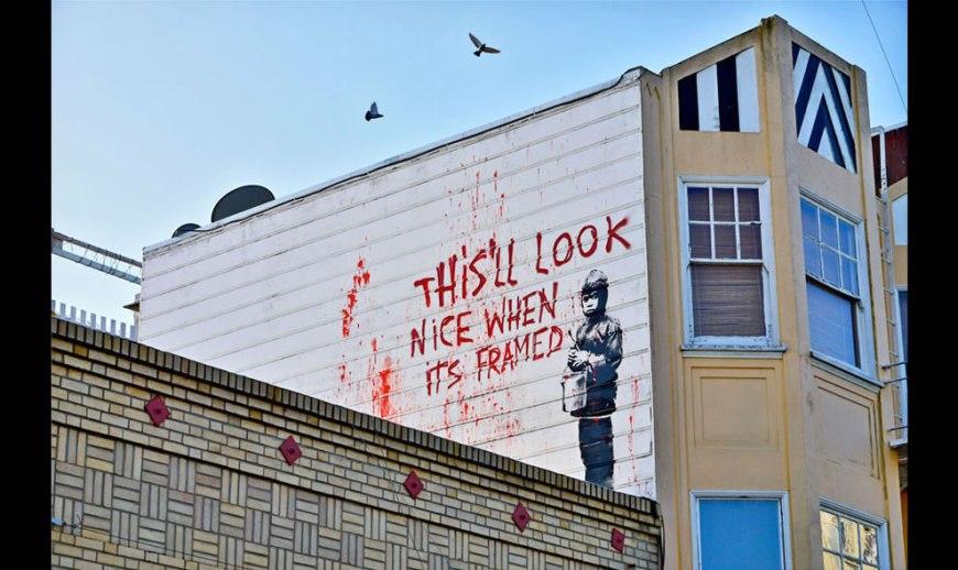 Banksy framed