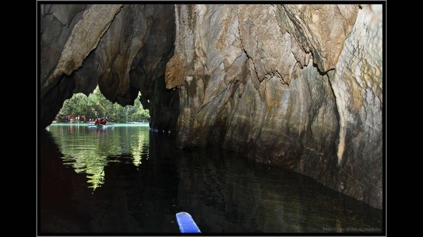 Going through Puerto Princesa Subterranean River National Park