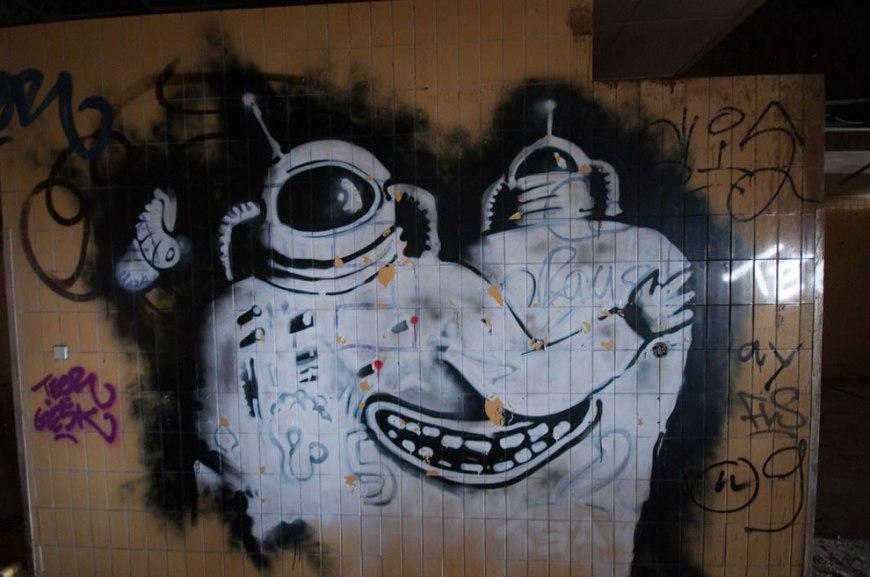 Graffiti in abandoned NSA Canteen Teufelsberg