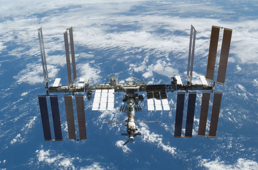 ISS taken from the space shuttle Atlantis