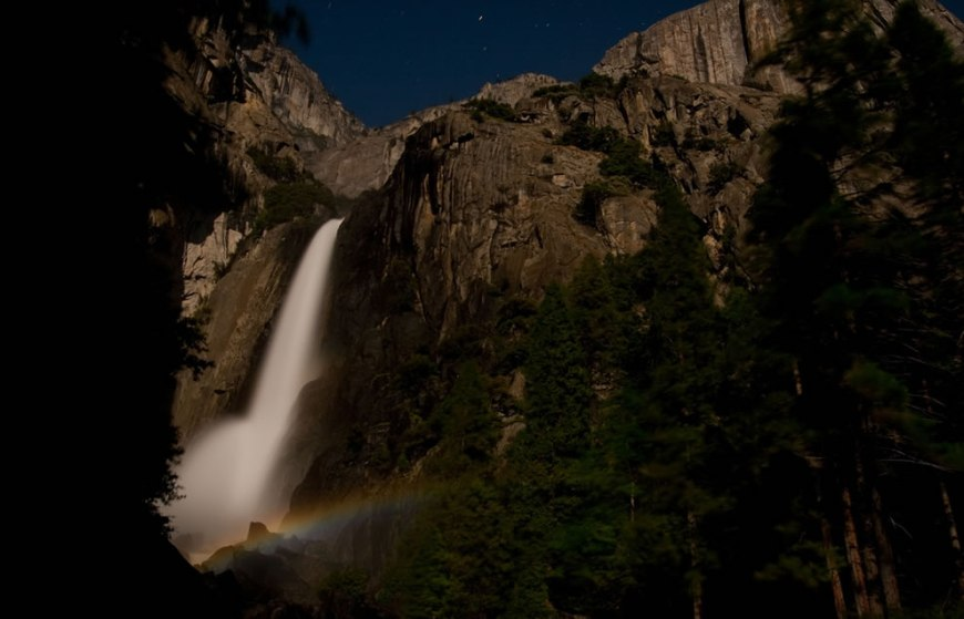 Moonbow over Lower Yosemite Falls