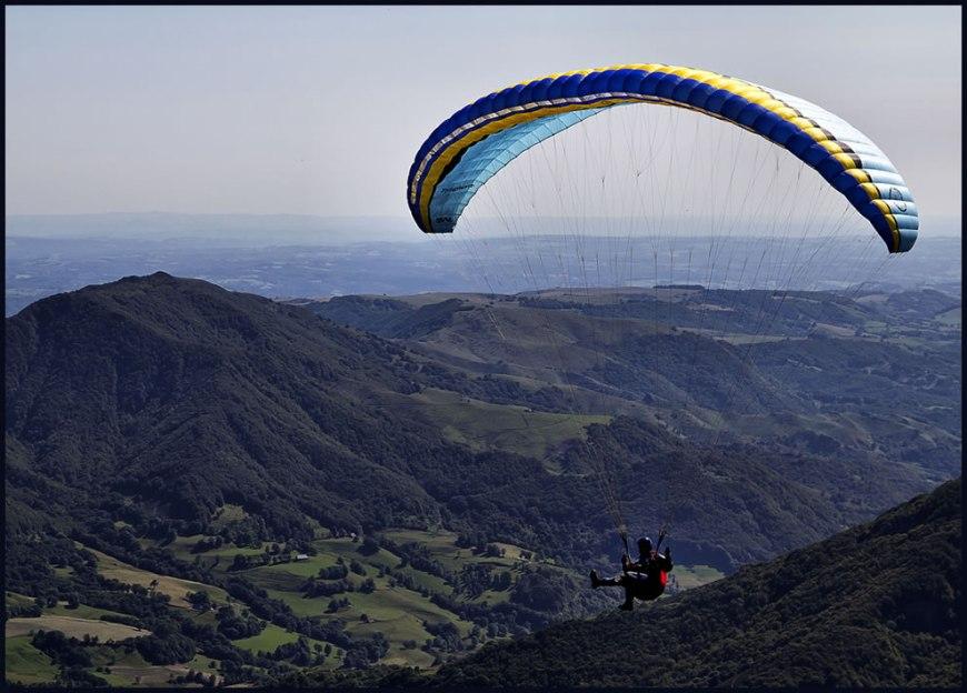 Paraglide over Cantal, France