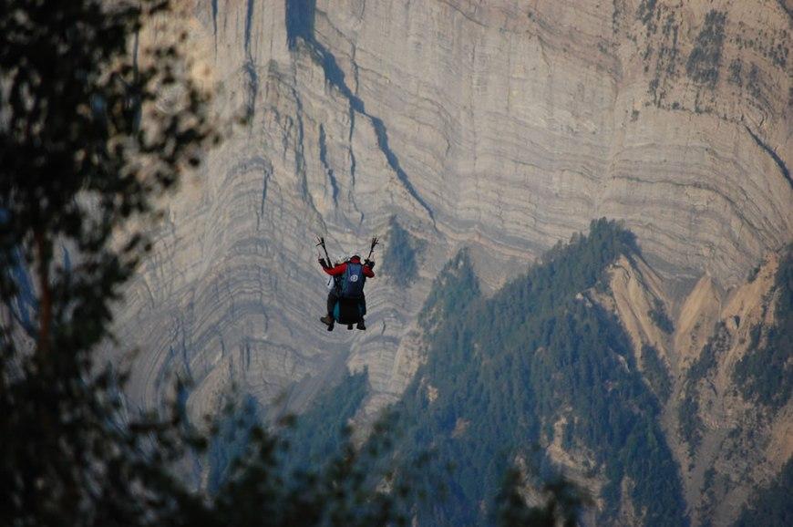 Paragliding over Bourg d'Oisans, France