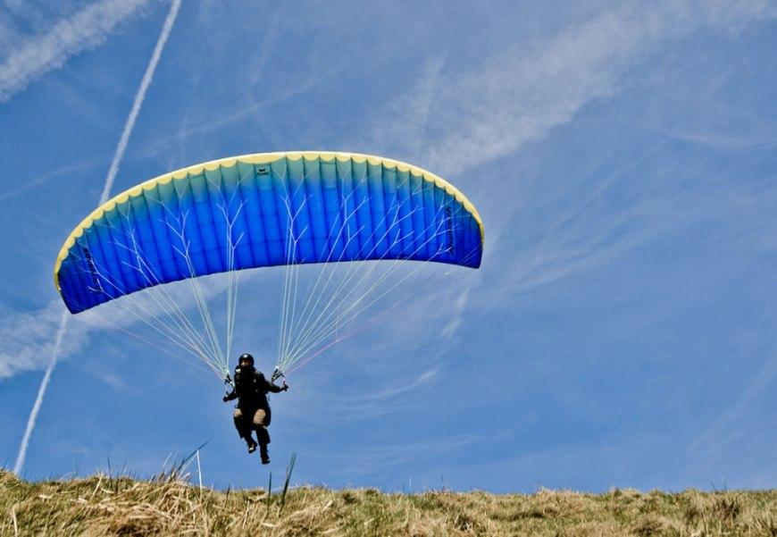 Paragliding Takeoff Peak District National Park