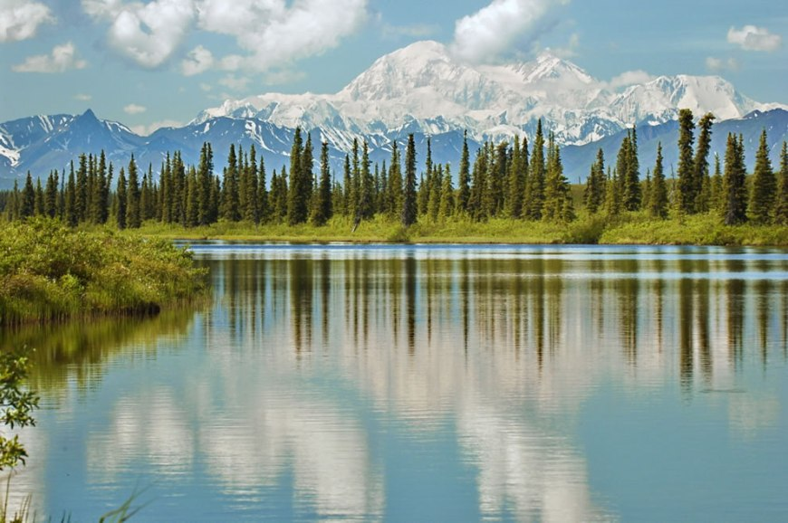 Reflections on Denali Mount McKinley, Alaska