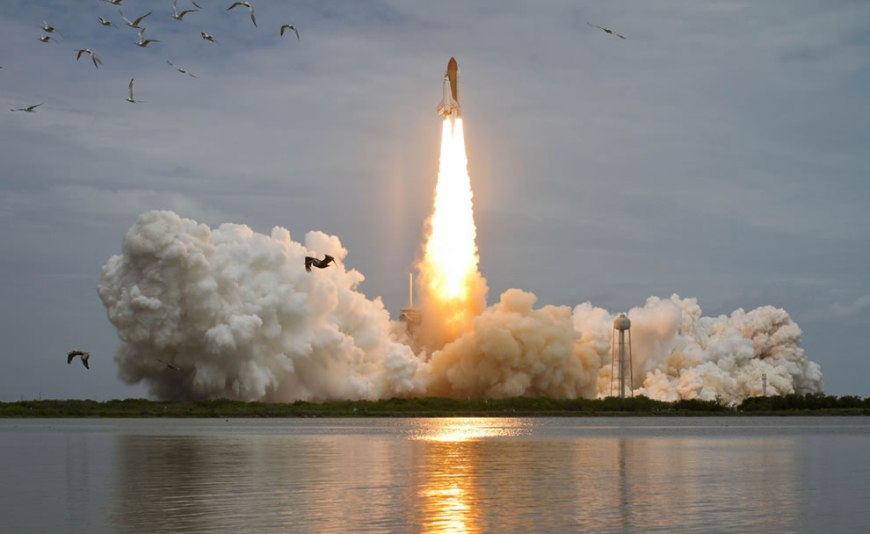 Space shuttle Atlantis is seen as it launches from pad 39A on Friday, July 8, 2011, at NASA's Kennedy Space Center in Cape Canaveral