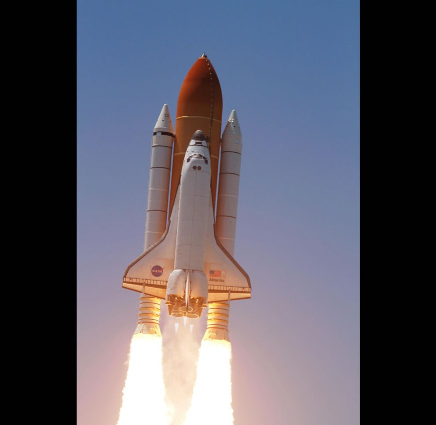 Space shuttle Atlantis soars to orbit