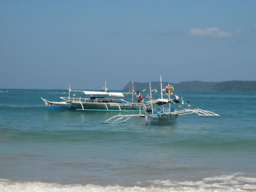 Taxi boats to Palawan underground river