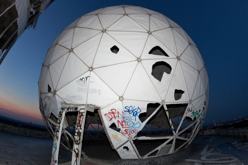 Teufelsberg dome at twilight