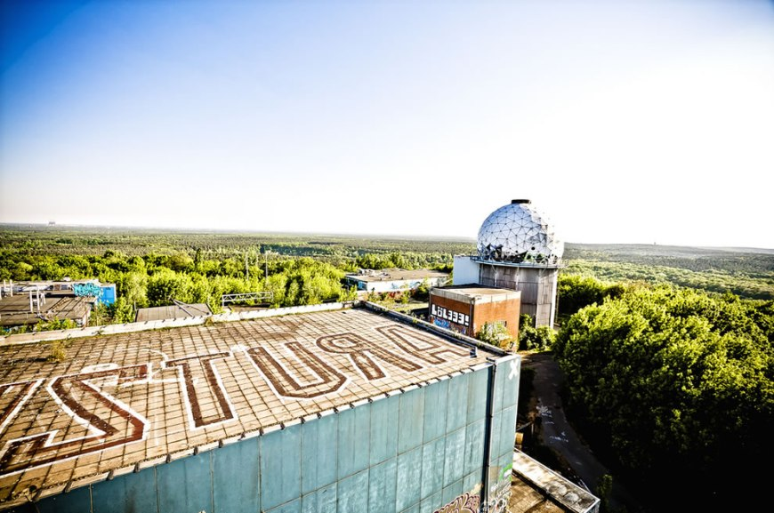 Teufelsberg roof in 2011 spring