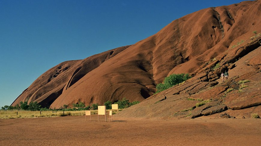 Bottom of Ayers Rock, Australia