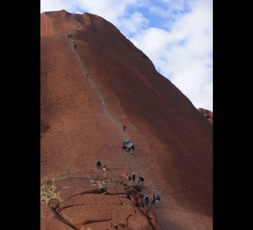 climbing route at Uluru