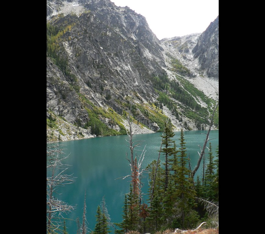 Colchuck Lake and Aasgard Pass in the Alpine Lakes Wilderness, Washington, United States