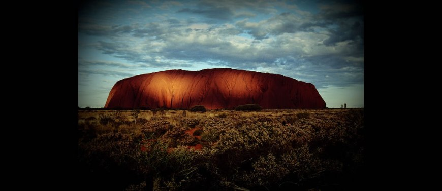 Dusk near Uluru