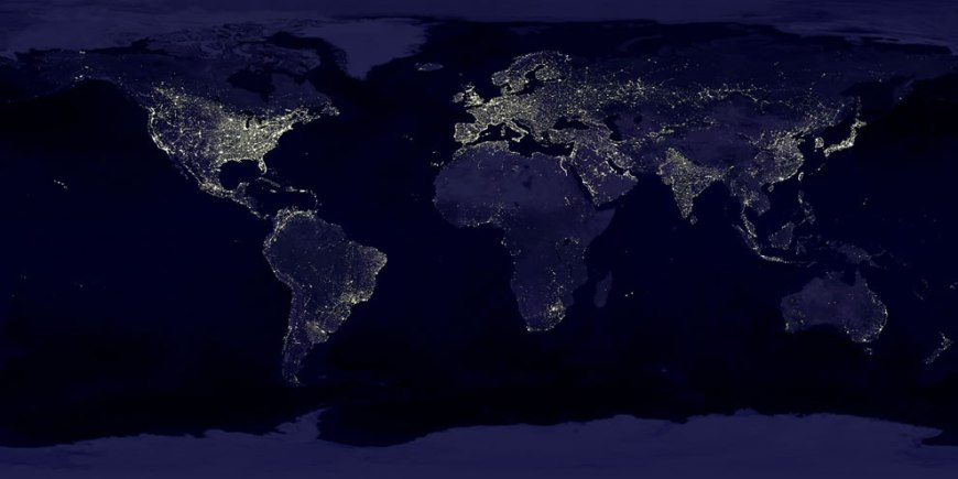 Earth's city lights