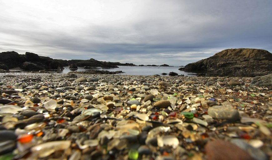 Glass Beach is a beach in MacKerricher State Park near Fort Bragg, Ca