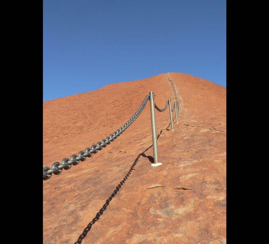 Going up Uluru