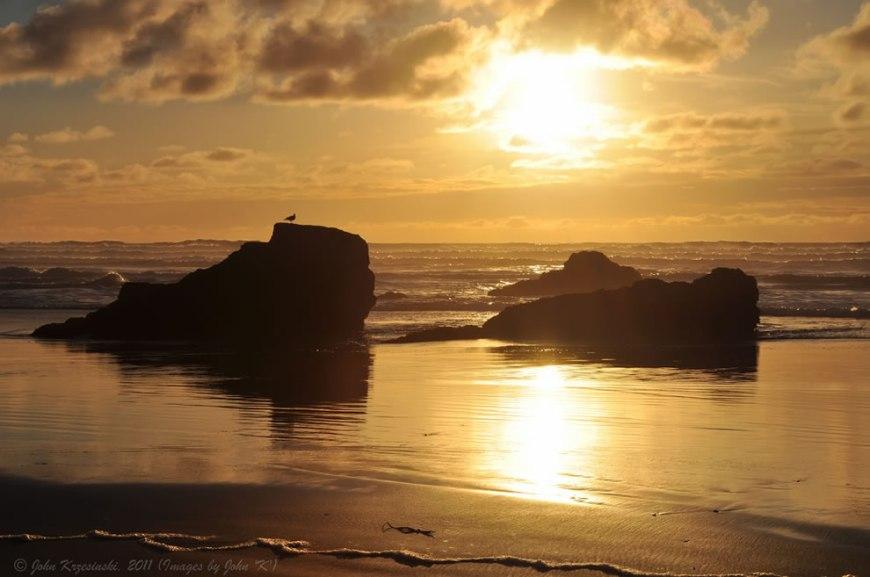 Golden Sunset taken at the beach just north of MacKerricher State Park, north of Fort Bragg