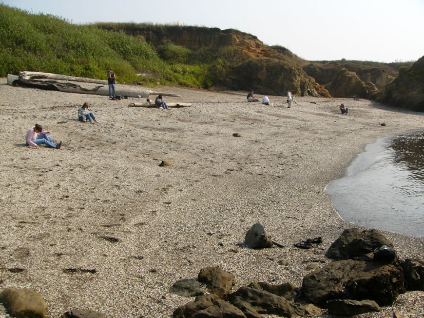 Hunting pretty pieces as treasure at Glass Beach Fort Bragg