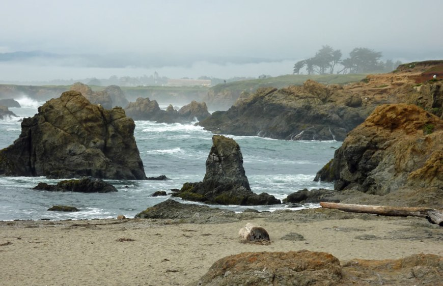 Landscape shot of the coast near Glass Beach, Fort Bragg