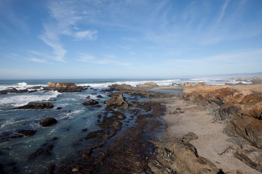 Looking out over Glass Beach