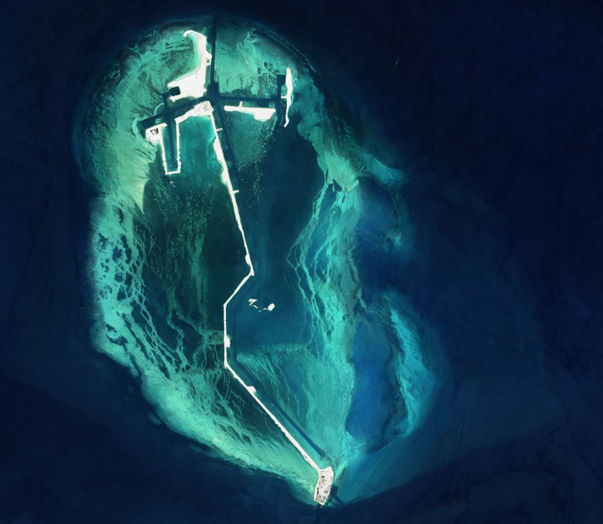 Man-made island in the Persian Gulf