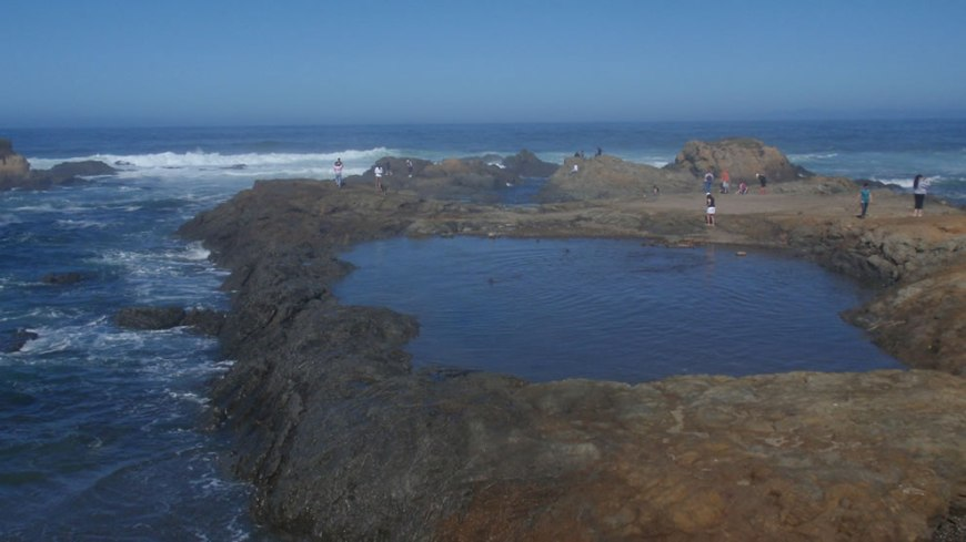 Stomping around on Glass Beach