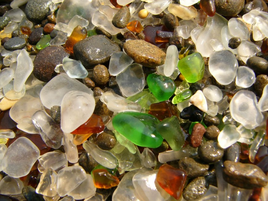 The Glass beach in Fort Bragg, California