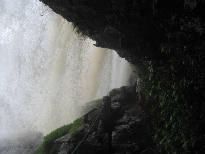 Behind Angel Falls