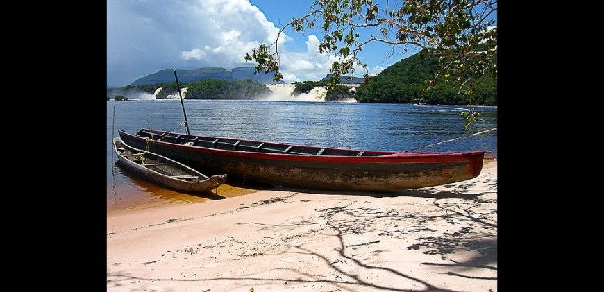 Canoes at Canaima National Park, Venezuela