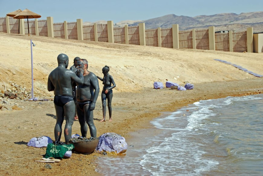 Enjoying The Dead Sea Mud, Jordan