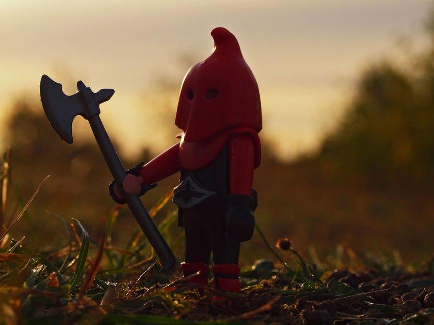 LEGO executioner at dawn