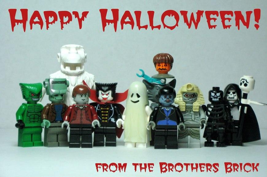 Happy Halloween!  Lego monsters, Necromancer, zombies, pumpkin-head