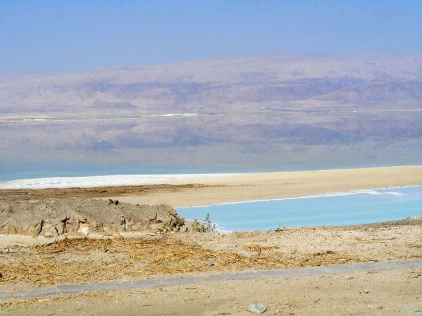 Mountains reflect in Dead Sea