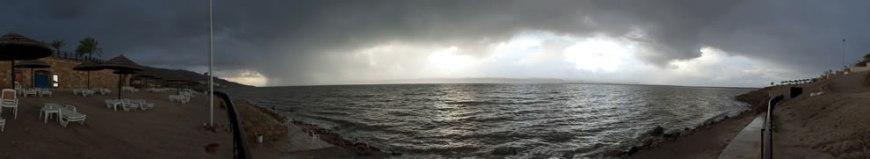 Panorama of the Dead Sea from the Mövenpick Resort, Jordan